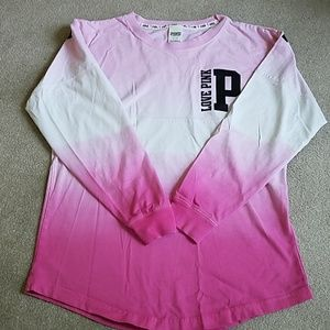 Victoria Secret Pink ombre long sleeve shirt